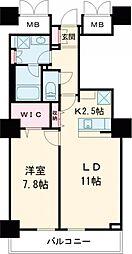 東京メトロ日比谷線 南千住駅 徒歩5分の賃貸マンション 13階1LDKの間取り
