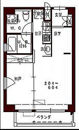 JR予讃線 高松駅 徒歩9分の賃貸マンション 3階1DKの間取り