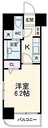 京急本線 戸部駅 徒歩4分の賃貸マンション 7階1Kの間取り