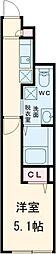 JR山手線 池袋駅 徒歩13分の賃貸マンション 1階1Kの間取り