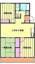 ソシアアマヌマ 3階3LDKの間取り