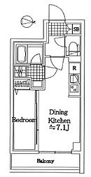 ラフィスタ蒲田南II 2階1DKの間取り