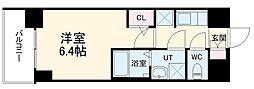 S-RESIDENCE熱田 3階1Kの間取り