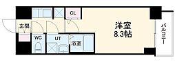 S-RESIDENCE熱田 12階1Kの間取り