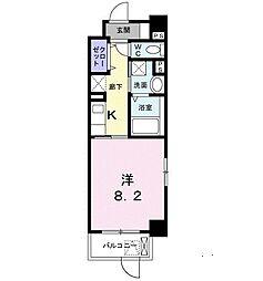 JR東海道・山陽本線 甲子園口駅 徒歩10分の賃貸マンション 1階1Kの間取り
