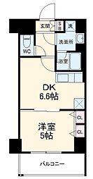 ベラジオ京都西院ウエストシティIII 3階1DKの間取り