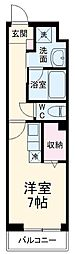 サムティレジデンス船橋海神 3階ワンルームの間取り