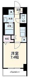 名古屋市営東山線 今池駅 徒歩9分の賃貸マンション 7階1Kの間取り