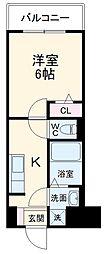 JR総武線 西船橋駅 徒歩15分の賃貸アパート 3階1Kの間取り