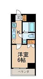 GRANPASEO目黒 4階1Kの間取り
