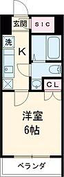 GRANPASEO目黒 6階1Kの間取り