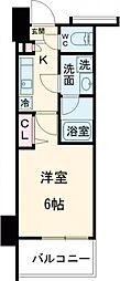 ガーラ・シティ品川西大井 6階1Kの間取り