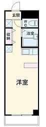 愛知高速東部丘陵線 杁ヶ池公園駅 徒歩24分の賃貸マンション 3階ワンルームの間取り