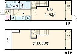 ALERO Takadanobaba Terrace 1階1LDKの間取り