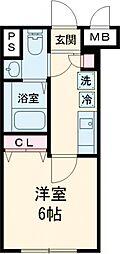 notice椎名町 4階1Kの間取り