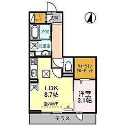 (仮)上落合PJ 3階1LDKの間取り