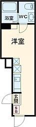 シェレーヴオオツカ 1階ワンルームの間取り