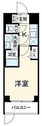 SYFORME YOKOHAMA−SAKURAGICHO 4階1Kの間取り