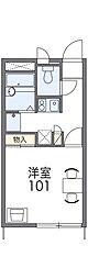 上毛電気鉄道 上泉駅 徒歩14分の賃貸アパート 2階1Kの間取り