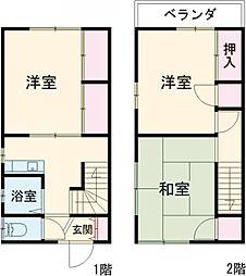 JR総武線 新小岩駅 バス3分 江戸川高校前下車 徒歩4分の賃貸一戸建て 1階3Kの間取り
