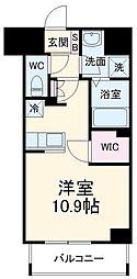 前島1丁目116マンション(仮称) 9階ワンルームの間取り
