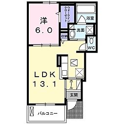 Osaka Metro今里筋線 だいどう豊里駅 徒歩7分の賃貸アパート 1階1LDKの間取り