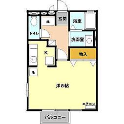 JR両毛線 新前橋駅 徒歩4分の賃貸アパート 1階1Kの間取り