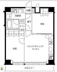 ルーブル東武練馬弐番館 5階2LDKの間取り