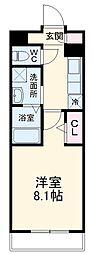 西武池袋線 西所沢駅 徒歩12分の賃貸マンション 2階1Kの間取り