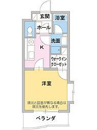 JR東海道本線 三島駅 徒歩10分の賃貸マンション 1階1Kの間取り