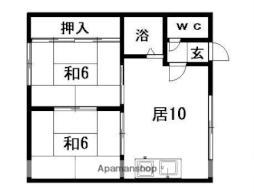 札幌市営東豊線 福住駅 バス13分 北野3-5下車 徒歩3分の賃貸アパート 2階2DKの間取り