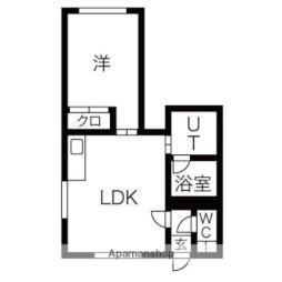 札幌市営南北線 真駒内駅 バス16分 南沢4-2下車 徒歩2分の賃貸アパート 2階1LDKの間取り