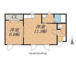 JR根室本線 帯広駅 バス15分 西9条9丁目下車 徒歩5分の賃貸アパート 1階1LDKの間取り