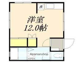 コーポルミナス 3階1Kの間取り