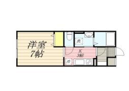 札幌市営南北線 北18条駅 徒歩5分の賃貸マンション 3階ワンルームの間取り
