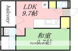 JR函館本線 南小樽駅 徒歩11分の賃貸マンション 4階1LDKの間取り