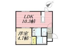 ラグーナ麻生 2階1LDKの間取り