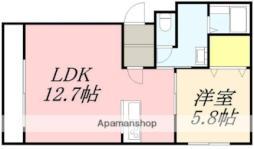 Evolcion(エボルシオン) 2階1LDKの間取り