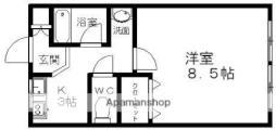 JR奥羽本線 弘前駅 徒歩10分の賃貸アパート 2階1DKの間取り