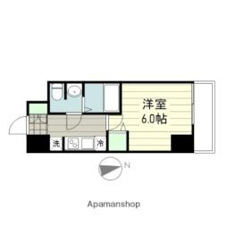smart residence 仙台駅東 10階1Kの間取り