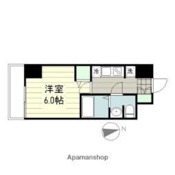 smart residence 仙台駅東 8階1Kの間取り