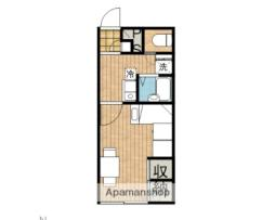 JR奥羽本線 秋田駅 徒歩10分の賃貸アパート 2階1Kの間取り