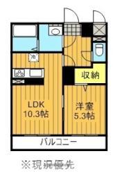 JR東北新幹線 郡山駅 バス7分 咲田二丁目下車 徒歩5分の賃貸マンション 1階1LDKの間取り
