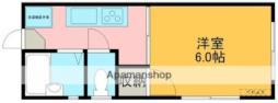 ベーコンハウス(1階) 2階1Kの間取り
