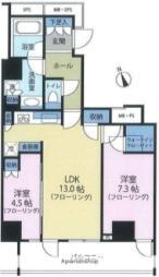 JR中央線 吉祥寺駅 徒歩3分の賃貸マンション 4階2LDKの間取り
