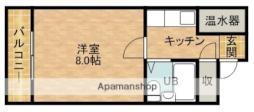 JR東海道本線 浜松駅 徒歩14分の賃貸マンション 4階1Kの間取り