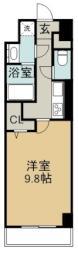 名古屋市営桜通線 高岳駅 徒歩3分の賃貸マンション 4階1Kの間取り