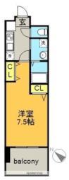 名古屋市営東山線 上社駅 徒歩3分の賃貸マンション 10階1Kの間取り