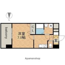 名古屋市営鶴舞線 大須観音駅 徒歩7分の賃貸マンション 9階1Kの間取り