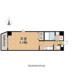 名古屋市営鶴舞線 上前津駅 徒歩8分の賃貸マンション 9階1Kの間取り